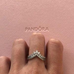 NEW Pandora Princess Wish ring Silver size 52.